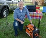Danny Lipford tailgating with Generac iQ2000 portable generator..