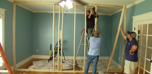 How to build a non load bearing interior wall today 39 s homeowner for Framing interior basement walls