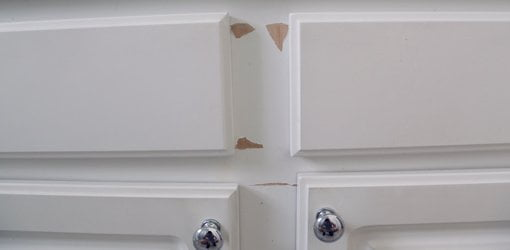 How To Repair And Paint Plastic Coated Melamine Cabinets Today S Homeowner
