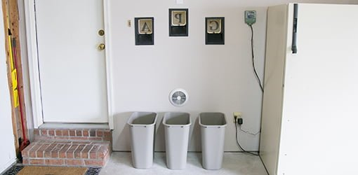 Recycling chute bins