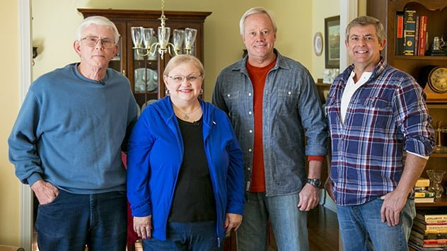 Homeowners Marilyn and Jesse King with Danny Lipford and Allen Lyle.