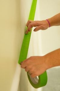 Using FrogTape ensures your paint lines are clean and crisp.