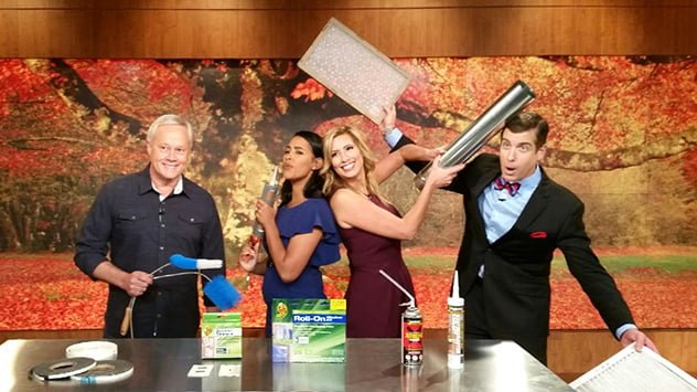 "Danny Lipford on the set with ""America's Morning Headquarters"" hosts Anaridis Rodriguez, Stephanie Abrams and Reynolds Wolf."