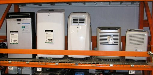 Different styles of portable air conditioner units