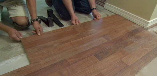 How To Install Laminate Flooring Over A Tile Floor Todays Homeowner