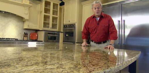 Danny Lipford in kitchen wiht granite countertops.