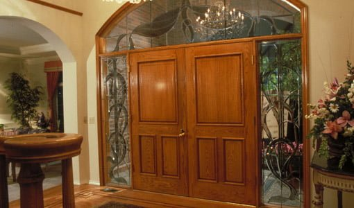 Double wood entry doors with stained glass sidelights & Upgrading and Replacing Entry Doors on Your Home | Todayu0027s Homeowner
