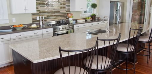 Granite Island Countertop Enhances The Beauty Of This Kitchen