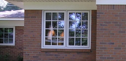 Window with low-E coating.