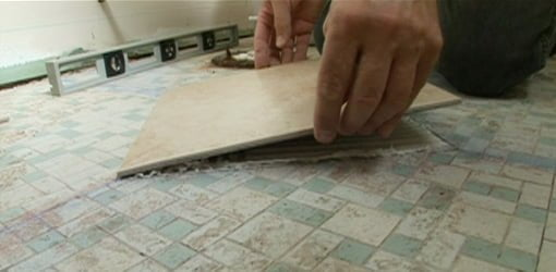 Laying Tile On A Floor