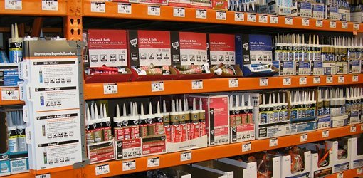 Caulking choices at The Home Depot