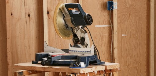 Motorized miter saw.