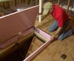 Building foam cover for attic stairs