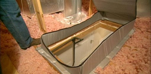 How To Insulate Attic Drop Down Access Stairs Today S