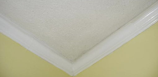 Ceiling with textured finish