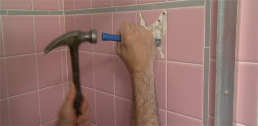 remove tile from bathroom wall leave