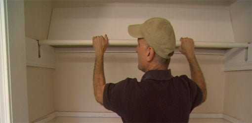 How To Cover Closet Rods With Plastic Pipe Today S Homeowner