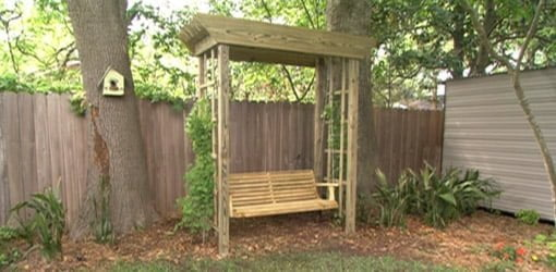 How to Build a Backyard Arbor Swing - How To Build A Backyard Arbor Swing Today's Homeowner