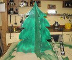 Homemade Christmas tree.