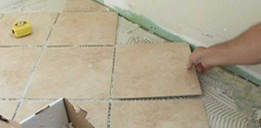 The Curved Cuts In The Tile For The Toilet Flange Are Cut Using A Portable  Wet Saw. Part 89