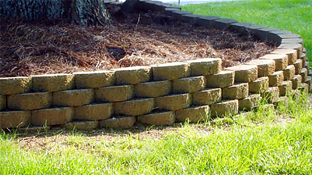 How to build a stackable block retaining wall today 39 s - How to build a garden retaining wall ...