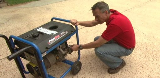 Starting a portable generator