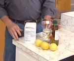 Lemons, baking soda, and vinegar for cleaning