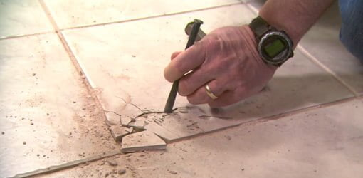 How To Remove And Replace A Damaged Ceramic Tile Todays Homeowner