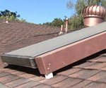 Solar Hot Water Heater on a roof