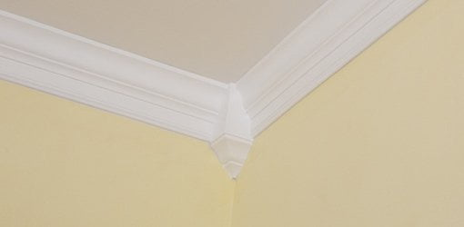 Crown Molding Installed Using Corner Blocks Installing