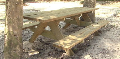 Building A Picnic Table For Your Yard Todays Homeowner - Treated lumber picnic table