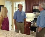 Danny Lipford with homeowners after kitchen remodel
