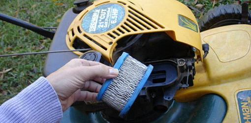 Paper air filter for lawn mower