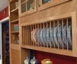 Cabinets that display pottery