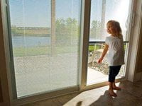 ODL Sliding Patio Doors with Blinds Between Glass