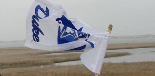 Duke flag in yard