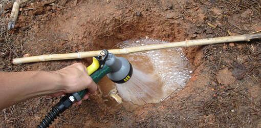 Yard drainage solutions for ac condensation drain runoff for Drainage solutions for my yard