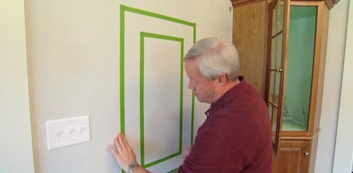 how to paint a frame border on a wall using painters tape todays homeowner - Painting On Walls