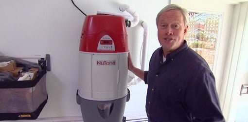 Danny Lipford with central vacuum system