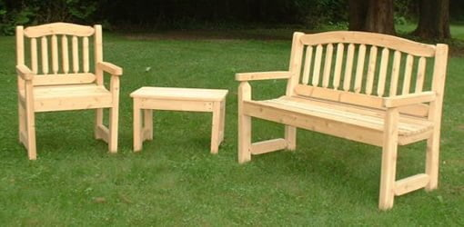 choosing durable wood for a garden bench and outdoor furniture