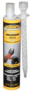 Tube of QUIKRETE® FastSet Anchoring Epoxy