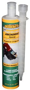 Tube of QUIKRETE® High Strength Anchoring Epoxy