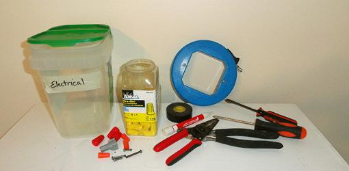 Tools for DIY electrical toolkit