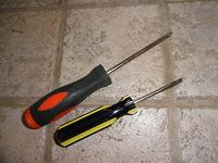 Slotted and Phillips head Screwdrivers
