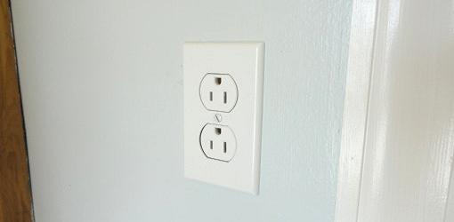 Completed electrical wall outlet