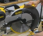 "DeWalt 12"" sliding compound miter saw"