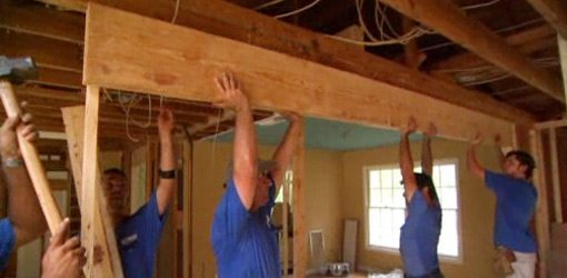 How to remove a load bearing wall today 39 s homeowner for Can a load bearing wall be removed