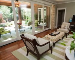 Family Room With Large Sliding Gl Doors