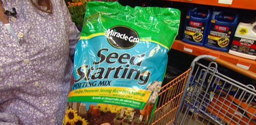 Bag of Miracle-Gro Seed Starting Potting Mix