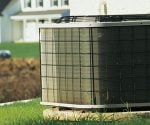 Outdoor AC heat pump unit